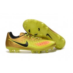 Nike Magista Opus FG ACC Cheap Football Boot Gold Volt Black