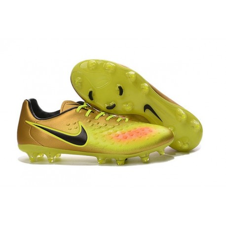 Nike Magista Opus FG ACC Cheap Football Boot Gold Volt Black