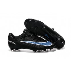 New Nike Mercurial Vapor XI FG Men Soccer Cleat Black Blue