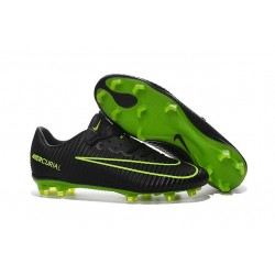 New Nike Mercurial Vapor XI FG Men Soccer Cleat Black Green