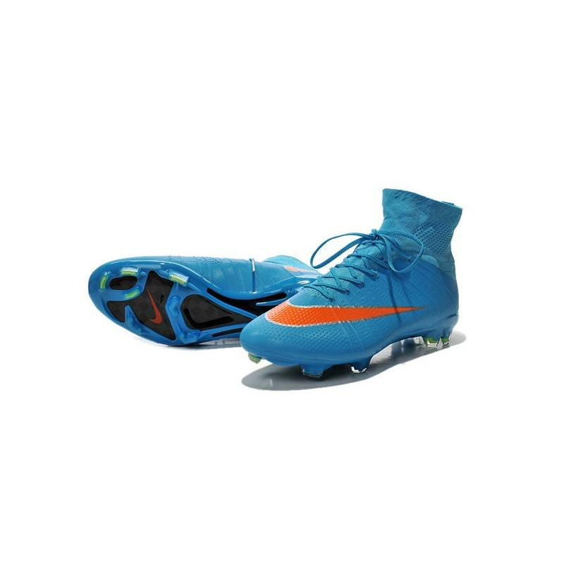huge selection of 2b963 473fe Cristiano Ronaldo Nike Mercurial Superfly 4 FG Soccer Boots Blue Orange