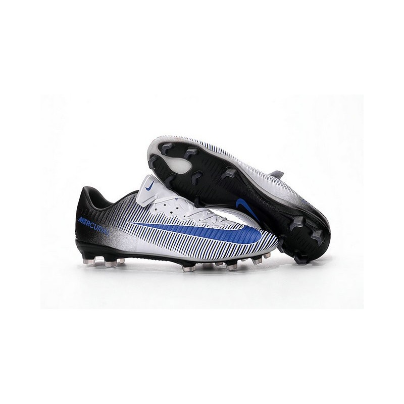 7bff625c7 Nike Mercurial Vapor 11 FG Firm Ground Football Shoes White Blue Black