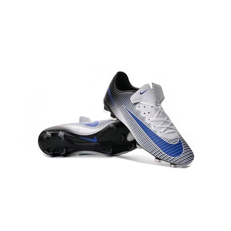 7ff034a34e4 Nike Mercurial Vapor 11 FG Firm Ground Football Shoes White Blue Black