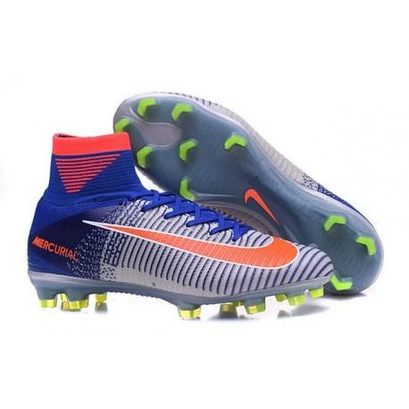 8df0aae26 Nike Mercurial Superfly V ACC FG Spark Brilliance 2016 Blue White Orange
