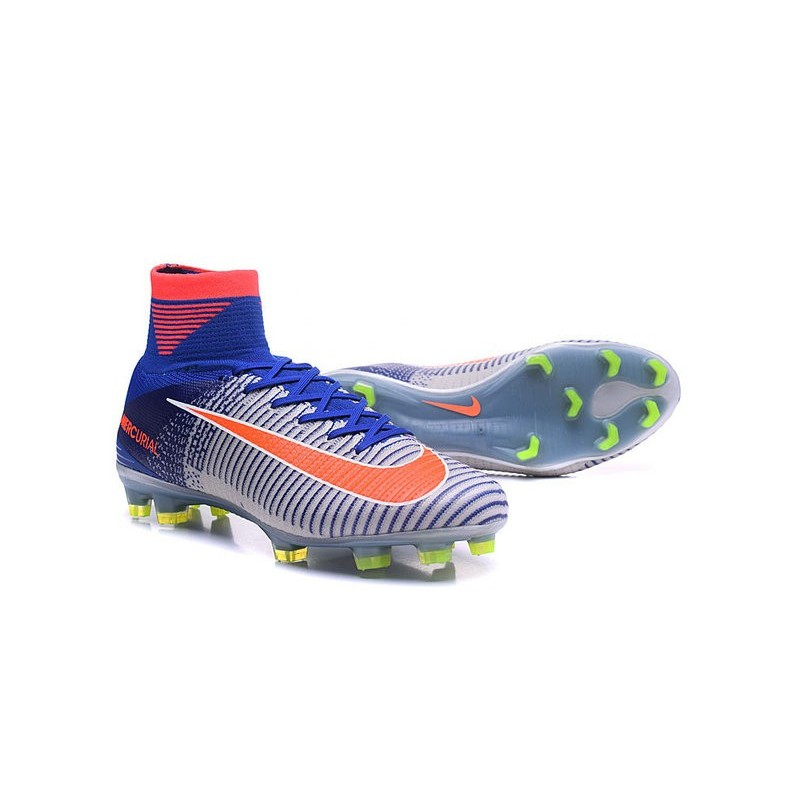Nike Mercurial Superfly V ACC FG Spark Brilliance 2016 Blue White Orange
