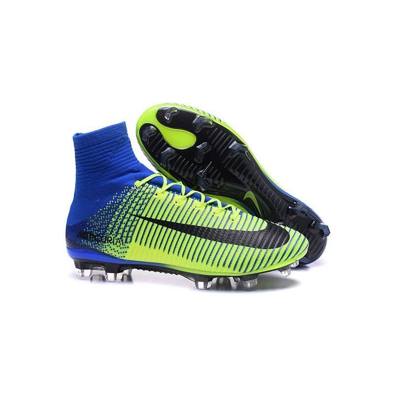 Nike Mercurial Superfly V FG ACC Soccers Shoes Green Blue Black a34e058b39dd6
