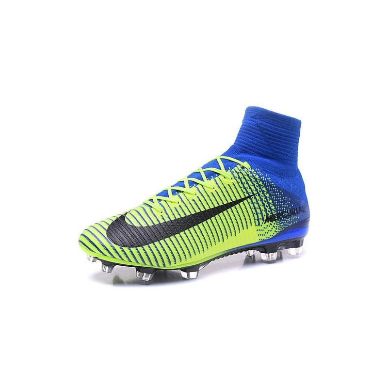 88c6c2373 Nike Mercurial Superfly V ACC FG 2016 Top Soccer Cleats Green Blue Black