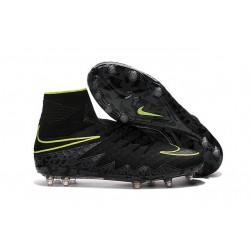 Nike Hypervenom Phantom II FG 2016 Mens Soccer Shoes Black Volt
