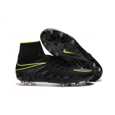 Nike Hypervenom Phantom II FG 2016 Mens Soccer Shoes Black Volt