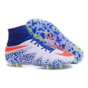 Nike Hypervenom Phantom II FG 2016 Mens Soccer Shoes White Blue Red