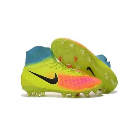 Nike Magista Obra 2 FG High Top Football Cleat Volt Orange Black