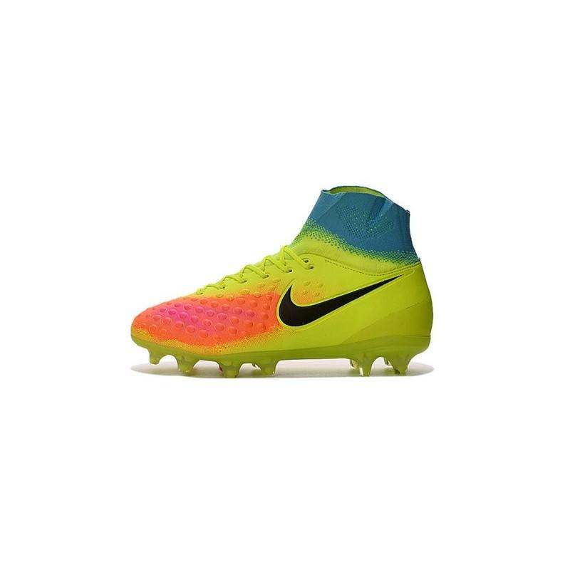 2c4fc8a285cb Nike Magista Obra 2 FG High Top Football Cleat Volt Orange Black Maximize.  Previous. Next