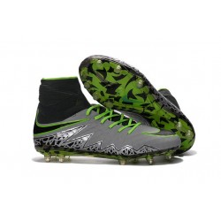 Nike Hypervenom Phantom 2 FG New Firm Ground Cleats Pure Platinum Green Black