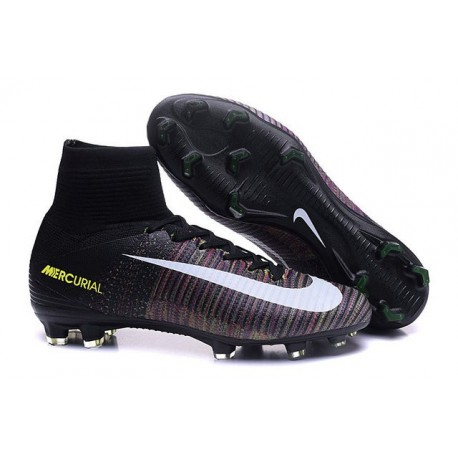 New High-Top Nike Mercurial Superfly V FG Boots Black Pink White