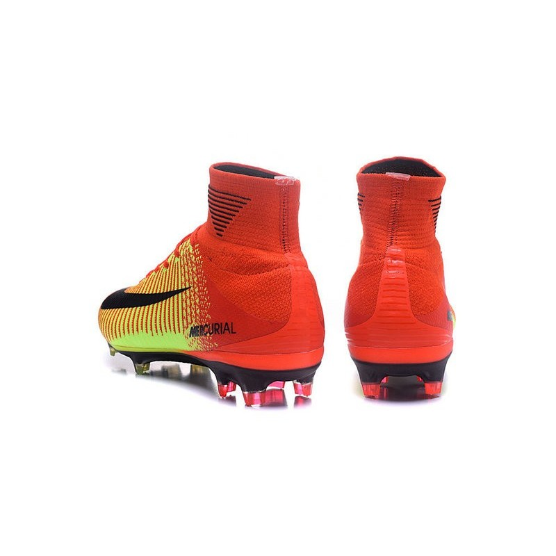 40c11697b ... denmark new high top nike mercurial superfly v fg boots crimson yellow  black bbb91 71e82