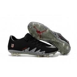 New Nike Hypervenom Phinish Neymar x Jordan Football Boots Black Silver