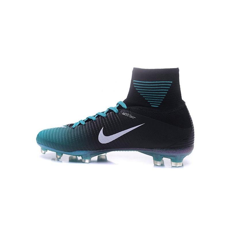 346662b75ba Nike Mercurial Superfly 5 FG News Football Cleats Black Blue White