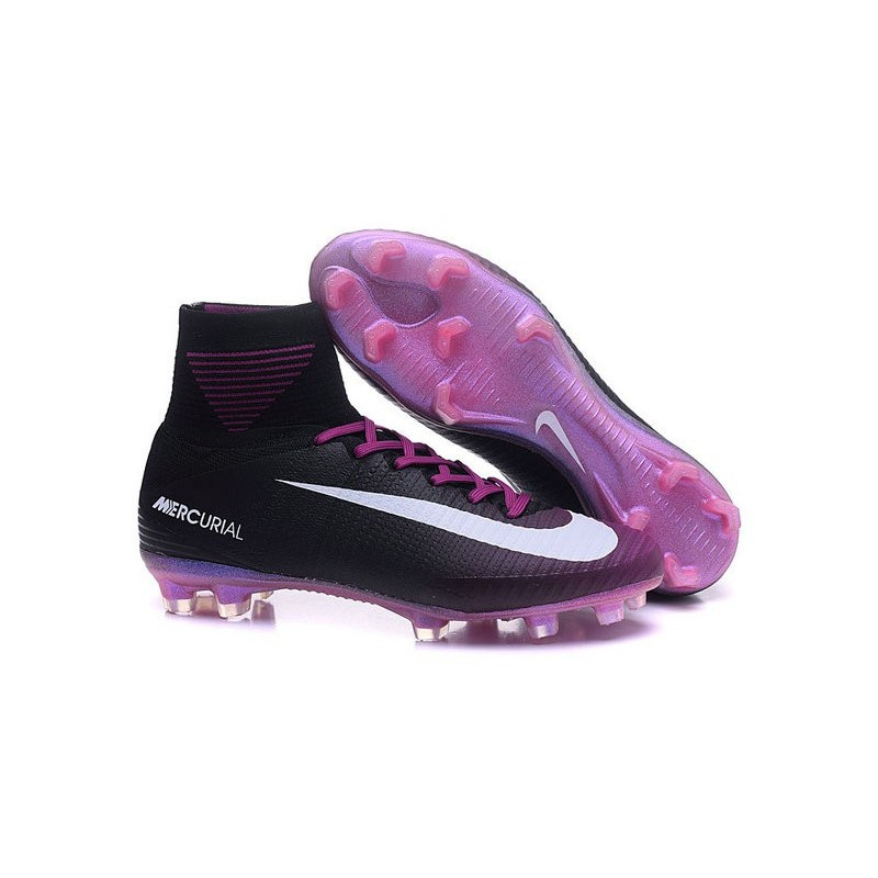 273ee638acf Nike Mercurial Superfly 5 FG News Football Cleats Purple Black White