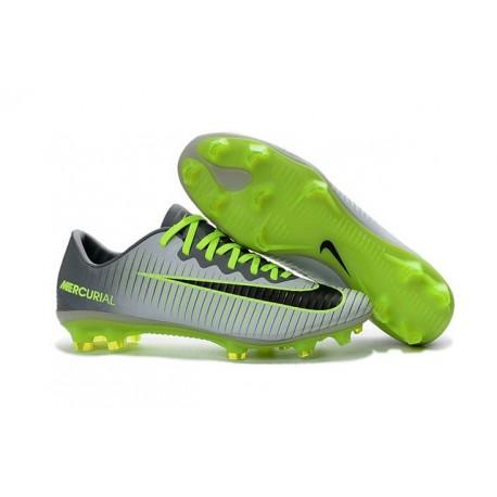 Nike Mercurial Vapor 11 FG Firm Ground Football Shoes Grey Green Black