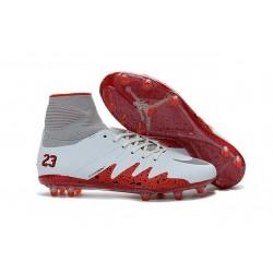 New Nike Hypervenom Phantom II Neymar x Jordan NJR FG White Red