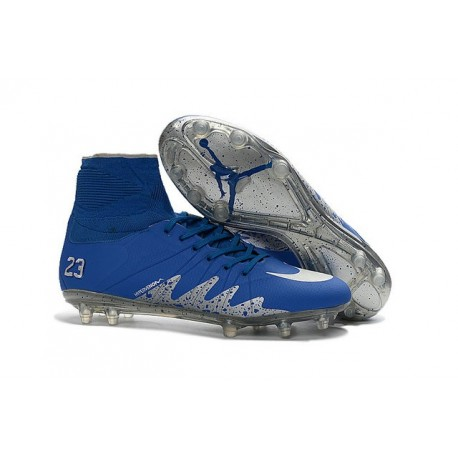 New Nike Hypervenom Phantom II Neymar x Jordan NJR FG Blue Silver