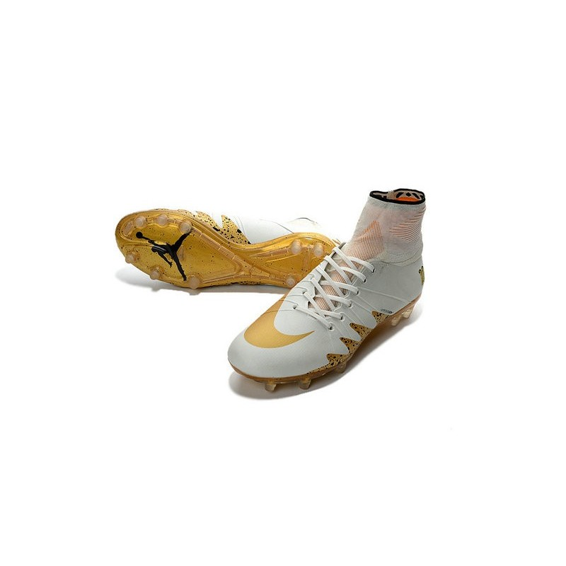 52ba47c4a4e1 New Nike Hypervenom Phantom II Neymar x Jordan NJR FG White Gold Maximize.  Previous. Next