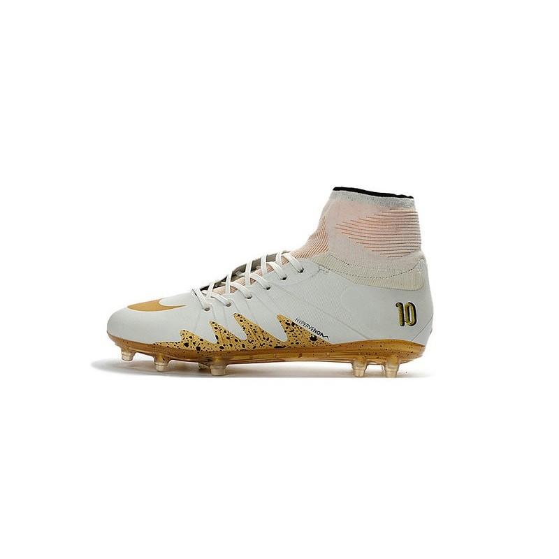 a9a8474693c512 New Nike Hypervenom Phantom II Neymar x Jordan NJR FG White Gold