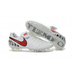 Nike Tiempo Legend 6 ACC FG Kangaroo Leather Cleats White Red