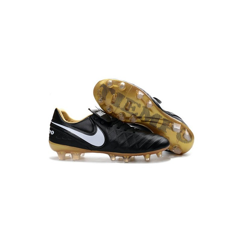 quality design 37a65 b6a0e Nike Tiempo Legend 6 ACC FG Kangaroo Leather Cleats Black White Gold
