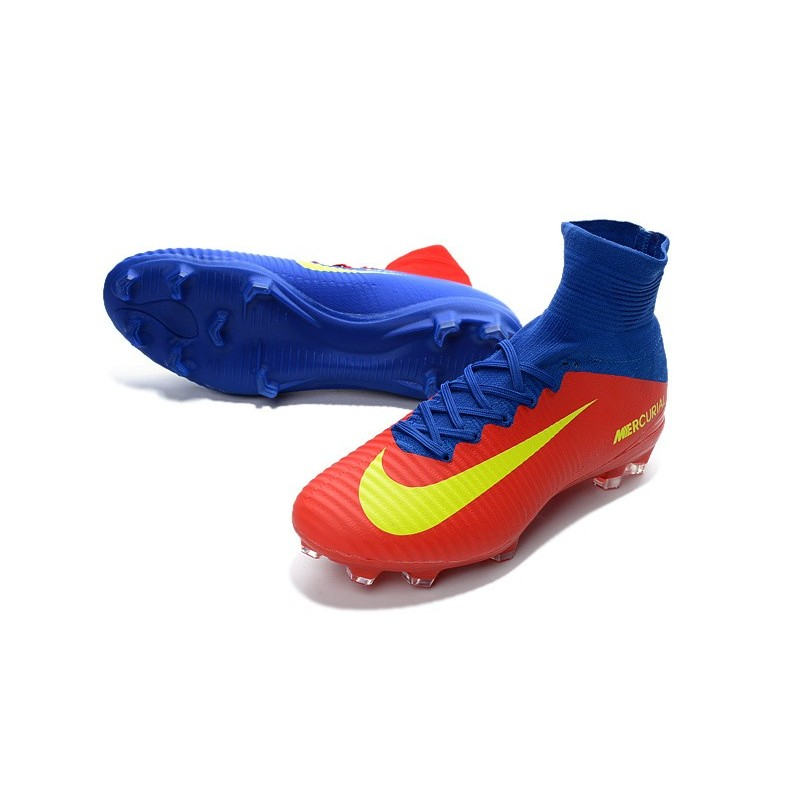 sneakers for cheap d64b0 cbeb2 Nike Mercurial Superfly 5 FG News Football Cleats Blue Red ...