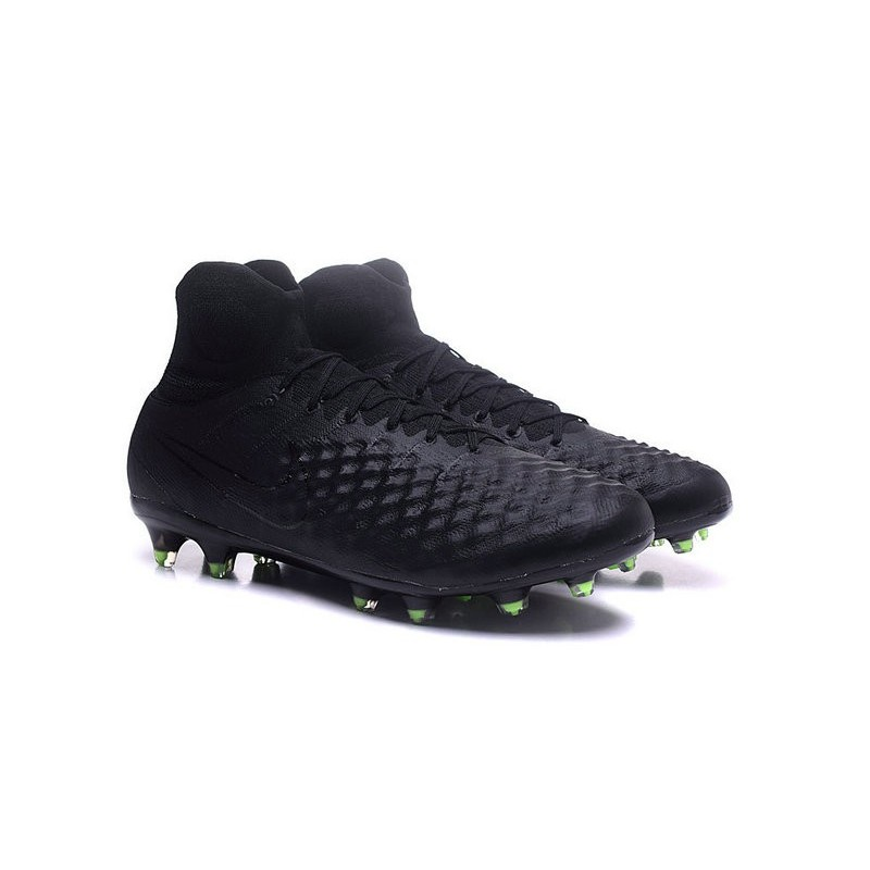 5334fcdd22f8 Nike Magista Obra 2 FG High Top Football Cleat Full Black Maximize.  Previous. Next