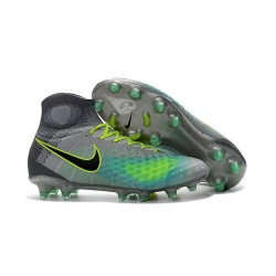Nike Magista Obra 2 FG High Top Football Cleat Grey Black Blue