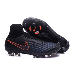 Nike Magista Obra 2 FG High Top Football Cleat Black Orange