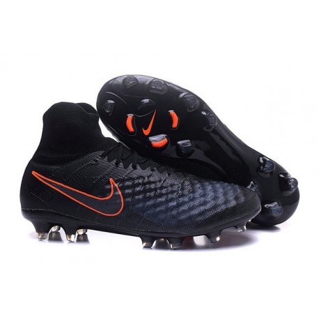 Nike Magista Obra 2 FG High Top Football Cleat Black Orange