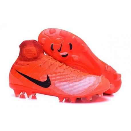 Nike Magista Obra 2 FG High Top Football Cleat Orange Black