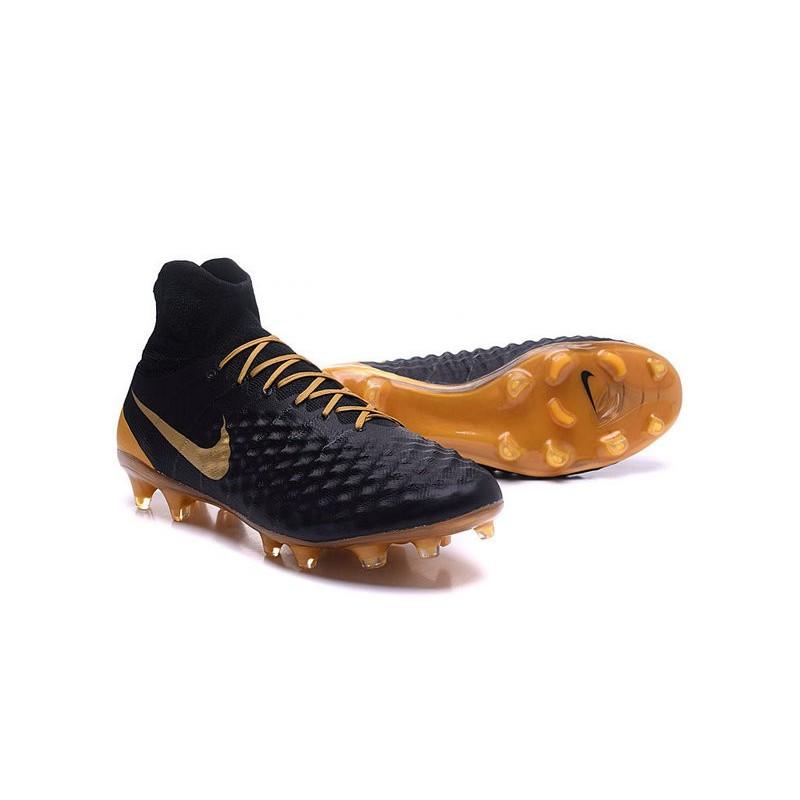 Nike Magista Obra 2 Fg High Top Football Cleat Black Gold