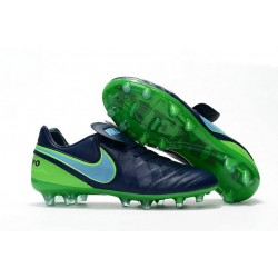 Nike Tiempo Legend 6 ACC FG Kangaroo Leather Cleats Black Green