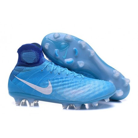 Nike Magista Obra 2 FG High Top Football Cleat Blue