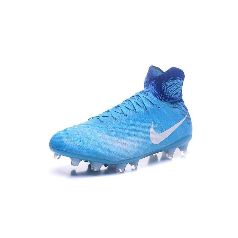 detailed look 53d4d 640f8 Nike Magista Obra 2 FG High Top Football Cleat Blue