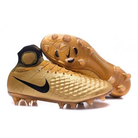 New Nike Magista Obra II FG ACC Soccer Boot Gold Black 8bae3618f9ae3
