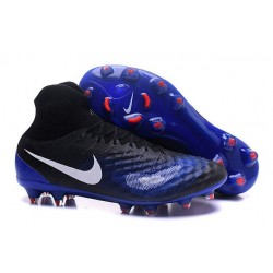 New Nike Magista Obra II FG ACC Soccer Boot Black Blue White