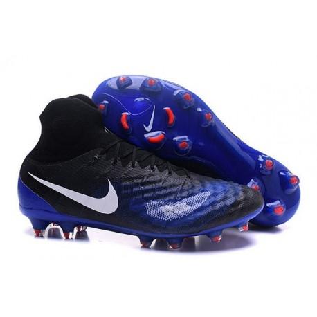 New Nike Magista Obra II FG ACC Soccer Boot Black Blue White