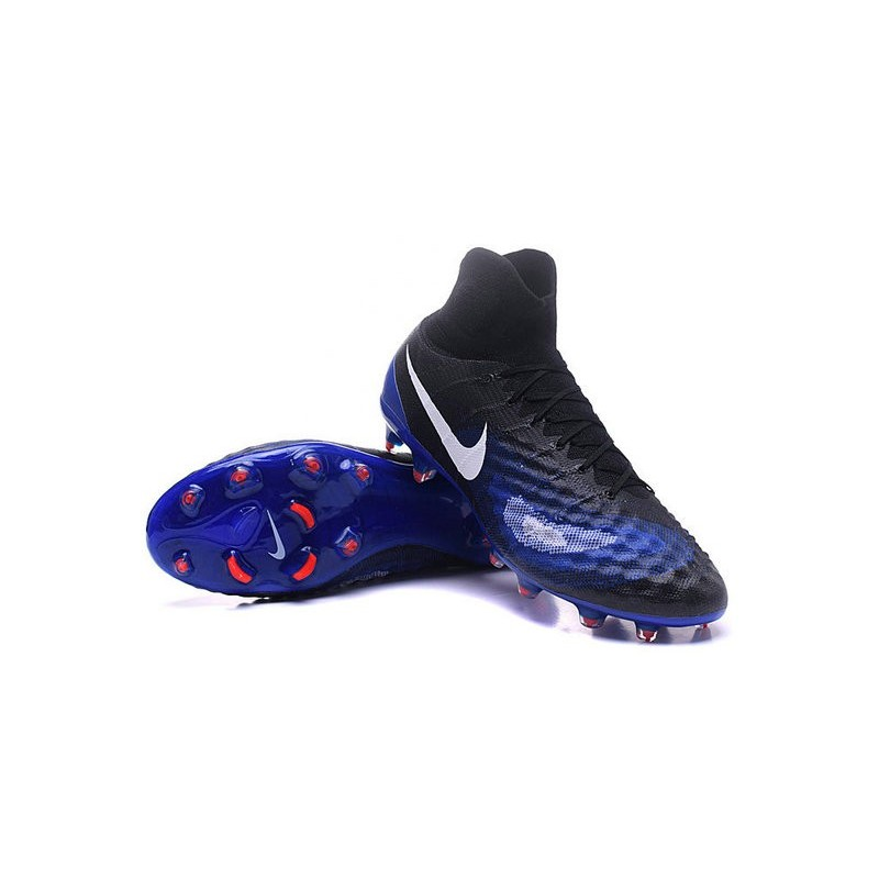 1090ddf7c ... new arrivals new nike magista obra ii fg acc soccer boot black blue  white 47b25 72d0e