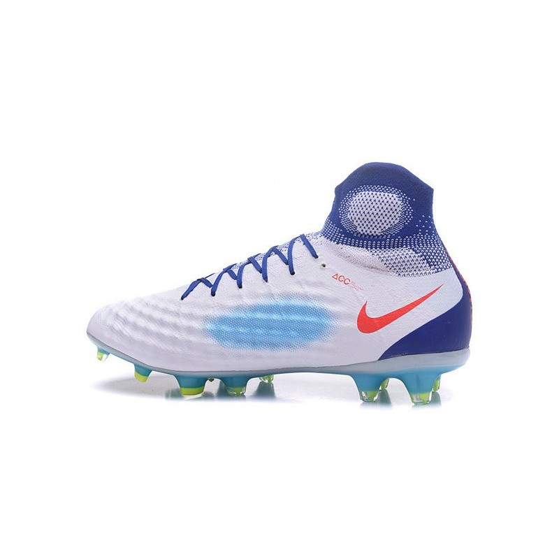 detailed look 28f2e 5b1f6 New Nike Magista Obra II FG ACC Soccer Boot White Blue Red