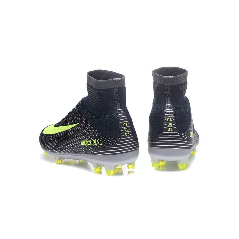 a2fe15a67eb Nike Mercurial Superfly V CR7 FG Firm Ground Soccer Shoes Green Volt Black