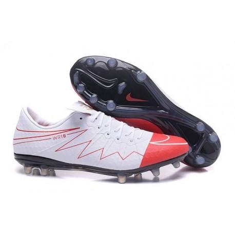 Wayne Rooney Nike Hypervenom Phinish FG Firm Ground Soccer Cleats White Red
