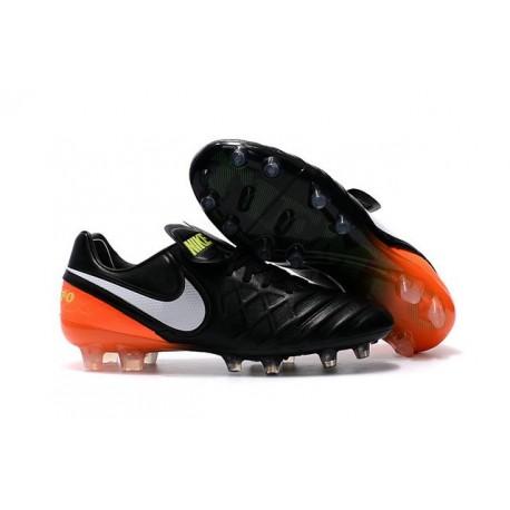 Nike Tiempo Legend VI ACC FG K-leather Football Boots Black Orange White