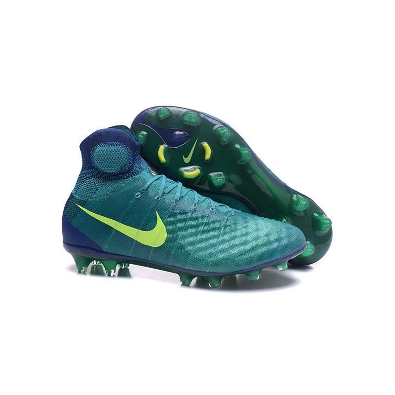 new product b291d 68bcf Nike Magista Obra 2 FG Men s Football Shoes Jade Volt