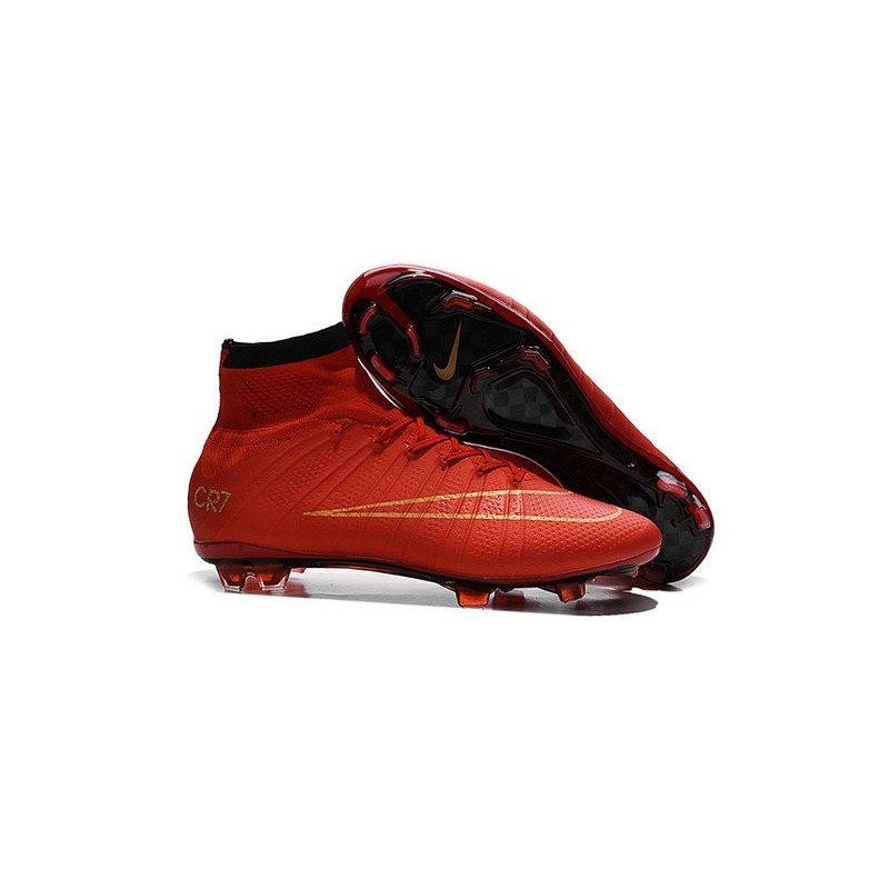 New Nike Mercurial Superfly CR7 FG Firm Ground Cleats Red Gold 13ff6c9ee