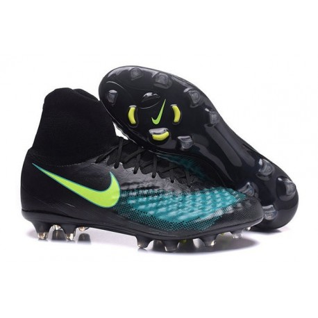 Nike Magista Obra 2 FG Men's Football Shoes Black Jade Volt